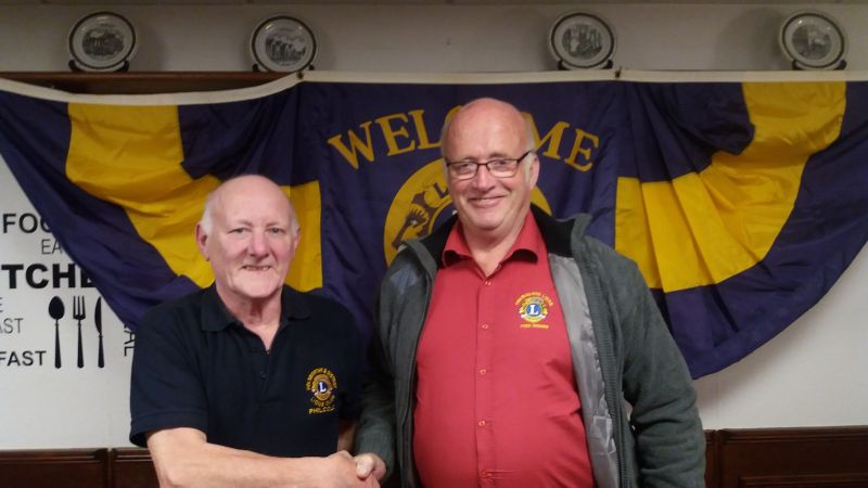 Phil Cole with District Governor Fred Broom